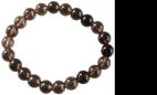 Bracelet Quartz fumé Perles rondes 8 mm