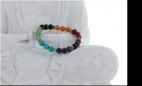 Bracelet 7 Chakras Mix Perles rondes 8 mm