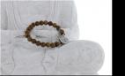 Bracelet Bois et Charms Arbre de Vie en Alliage de Zinc