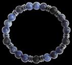 Bracelet H Sodalite, Pierre de lave Perles rondes 8 mm