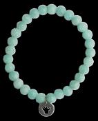 Bracelet Amazonite Perles rondes 6 mm Breloque ange