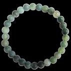 Bracelet Agate fancy Perles rondes 6 mm Mates