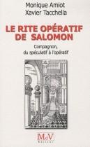 Le rite opératif de Salomon - Compagnon, du spéculatif à l'opératif