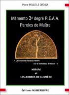 Mémento 3e degré REAA, Paroles de Maitre
