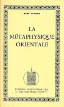La métaphysique orientale