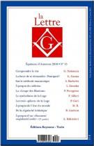 Revue La Lettre G N°12