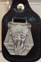 Portes-clefs Harpocrate sur cuir