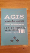 """Carte Postale Préceptes """"Agis envers les hommes"""""""