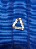 Grand triangle en argent