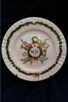 Assiette maçonnique (MB) en céramique
