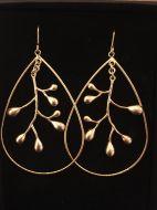 Boucle d'oreilles dorées ovales