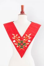 Sautoir XVIIIe - REAA - 04 : croix ancrée+rosier+rose