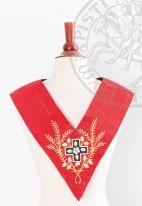 Sautoir XVIIIe - REAA - 09 : croix + fleur blanche + acacia (en couronne)