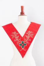 Sautoir XVIIIe-REAA-12 : croix avec fleur+acacia