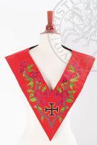 Sautoir XVIIIe-REAA-18: croix potencée et rosier