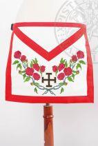 Tablier XVIIIe-REAA-05: croix potencée et rosier