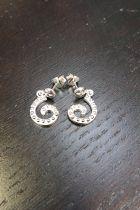 Boucles d'oreilles en argent pendantes-S