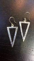 Boucles d'oreille triangle renversé