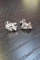 Boucles d'oreilles en argent avec zircon