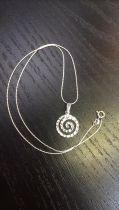 Pendentif spirale (+ chaîne)