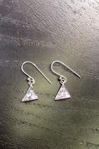 Boucles d'oreilles triangle plein brillant (grandes)