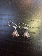 Boucles d'oreilles triangles coiffés