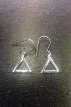 Boucles d'oreilles triangle creux petit modèle