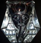 Masque d'Harpocrate en étain