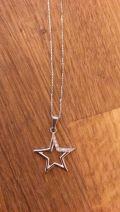 collier étoile petits brillants