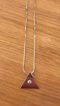 Collier argent triangle petit brillant