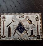 Pince à billets avec motifs maçonniques